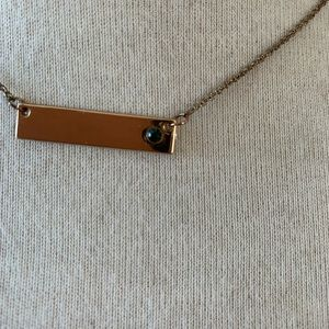 Jewelry - Gold Emerald Gem Bar Necklace